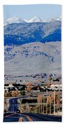 Highway 52 End Of The Line Beach Towel