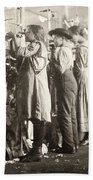 Hine: Child Labor, 1910 Beach Towel
