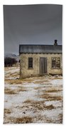 Historic Farm After Snowfall Otago New Beach Towel by Colin Monteath