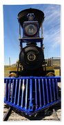 Historic Jupiter Steam Locomotive Beach Towel
