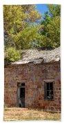 Historic Ruined Brick Building In Rural Farming Community - Utah Beach Towel
