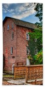 Historic Woods Grist Mill Beach Towel