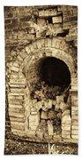Historical Brick Kiln Oven Opening Decatur Alabama Usa Beach Sheet