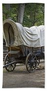 Historical Frontier Covered Wagon Beach Towel