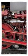 Historical Steam Train Beach Towel