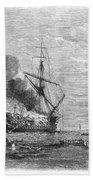 Hms Bombay Burning, 1865 Beach Towel