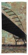 Hoan Bridge And Brick Beach Towel