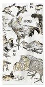 Hokusai: Birds Beach Towel