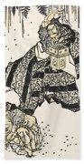 Hokusai: Setsubun, 1816 Beach Towel