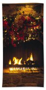 Holiday Hearth Beach Towel