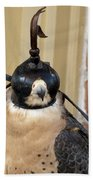 Hooded Barbary Falcon Beach Towel