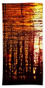 Horicon Marsh Sunset Wisconsin Beach Towel