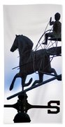 Horse And Buggy Weather Vane Beach Towel
