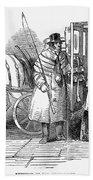 Horse Carriage, 1847 Beach Towel