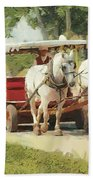 Horse Carriage Mackinac Island Michigan Beach Towel