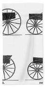 Horse Carriages, 1810-1860 Beach Towel