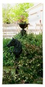 Horse Hitching Post 2 Beach Towel