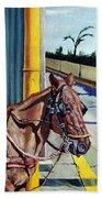 Horse In Malate Beach Towel