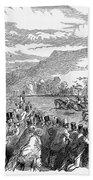 Horse Racing, 1850 Beach Towel