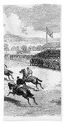 Horse Racing, 1870 Beach Towel