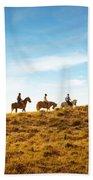 Horseback Riding Beach Towel