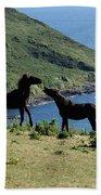 Horses By The Sea Beach Towel