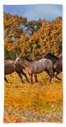 Horses Running Free Beach Towel