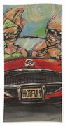 Hot Fun Corvette Beach Towel