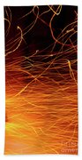 Hot Sparks Beach Towel