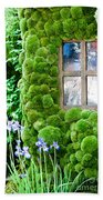 House With Moss Walls Beach Towel
