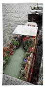 Houseboats In Paris Beach Towel by Elena Elisseeva