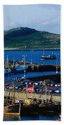 Howth Harbour & Irelands Eye, Co Beach Towel