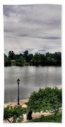 Hoyt Lake Delaware Park 0002 Beach Towel