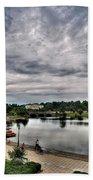 Hoyt Lake Delaware Park 0003 Beach Towel