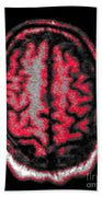 Human Brain Beach Towel