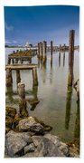 Humboldt Bay Over Darkening Skies Beach Towel