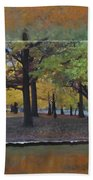 Humboldt Park Trees Layered Beach Towel