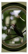 Hummingbird - Card - Glint Of The Eye Beach Towel