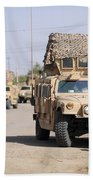 Humvees Conduct Security Beach Towel