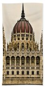 Hungarian Parliment Building Beach Towel
