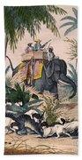 Hunting: Big Game, 1852 Beach Towel