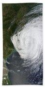 Hurricane Isaac Makes Its Second Beach Towel