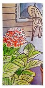 Hydrangea Sketchbook Project Down My Street Beach Towel by Irina Sztukowski