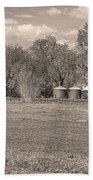 Hygiene Colorado Boulder County Scenic View Sepia Beach Towel