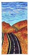 I - 15 Nevada To California Beach Towel