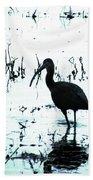Ibis By Pintail Nature Drive Cameron Prairie Nwr La Beach Towel