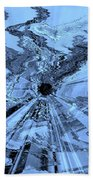 Ice Blue - Abstract Art Beach Towel by Carol Groenen