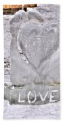 Ice Cold Love Beach Towel