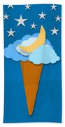 Ice Cream Design On Hand Made Paper Beach Towel by Setsiri Silapasuwanchai