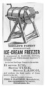 Ice Cream Freezer, 1872 Beach Towel